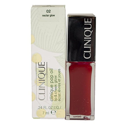 Clinique Pop Oil Lip & Cheek Glow - 02 Nectar Glow, 0.24Floz/7Ml