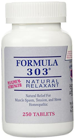 Dee Lee Formula 303 Maximum Strength Natural Relaxant Tablets, 250 Tablets