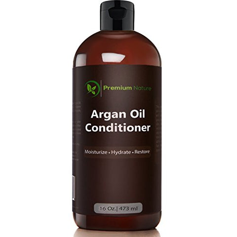 Argan Oil Organic Deep Conditioner - 16 Oz Rejuvenates Heat Damaged Hair Nourishes & Prevents Breakage Sulfate Free Leave In Hair Mask - All Hair Types - Dry Damaged Colored Hair - Volumizing & Moisturizing Premium Nature