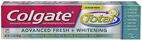 Colgate Total Advanced Fresh + Whitening Gel Toothpaste, 5.8 Ounce