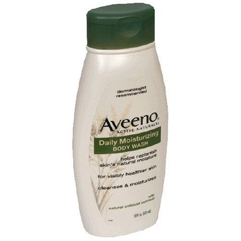 Aveeno Active Naturals Daily Moisturizing Body Wash, With Natural Colloidal Oatmeal, 18 Fl Oz (532 Ml)