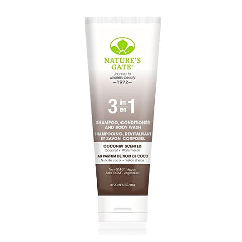 Nature'S Gate 3-In-1 Shampoo Conditioner And Body Wash,  Coconut, 8 Fl. Oz.