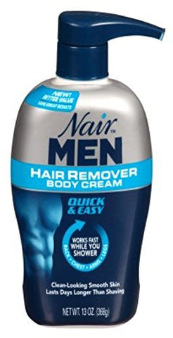 Nair Hair Remover Men Body Cream 13Oz Pump