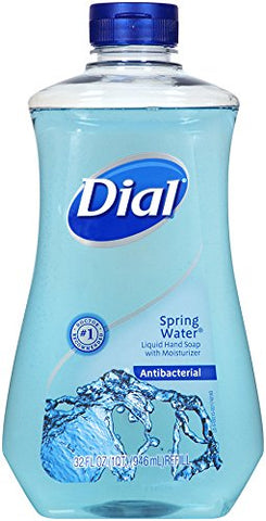 Dial Antibacterial Liquid Hand Soap Refill, Spring Water, 32 Ounce