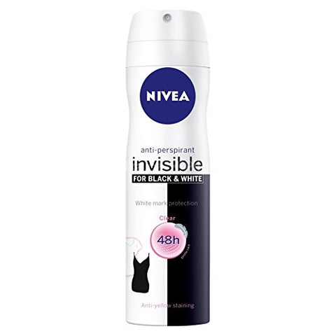 Invisible Black And White Clear Deodorant 150Ml Spray By Nivea
