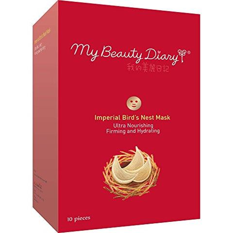 My Beauty Diary Facial Mask, Imperial Bird'S Nest 2015, 10 Count