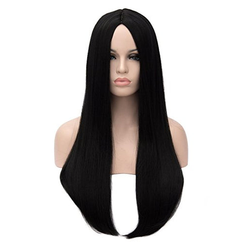 Kalyss 26 Inches Women'S Wig Long Straight Imported Synthetic Cosplay Costume Hair Wig