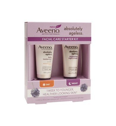 Aveeno Absolutely Ageless Facial Care Starter Kit Spf 30 Daily Moisturizer 15Ml & Restorative Night Cream