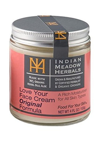 Indian Meadow Herbals Love Your Face Cream 4Oz