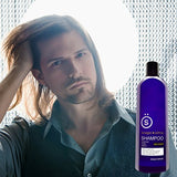 K + S Salon Quality Mens Shampoo  Tea Tree Oil Infused To Eliminate Dandruff, Dry Scalp, And Prevent Hair Loss - Professional Stylist Recommended (16 Oz Bottle)