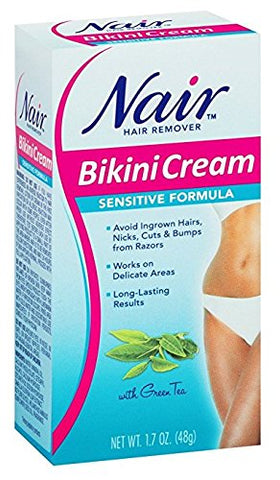 Nair Hair Remover Bikini Cream With Green Tea Sensitive Formula 1.70 Oz