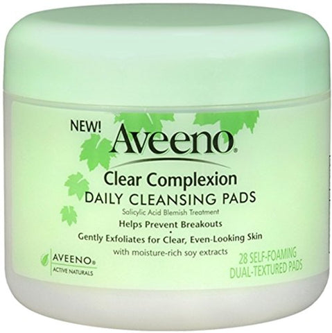 Aveeno Active Naturals Clear Complexion Daily Cleansing Pads, 28-Count Pads
