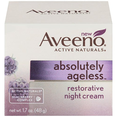 Aveeno Absolutely Ageless Restorative Facial Anti-Aging Night Cream, 1.7 Oz