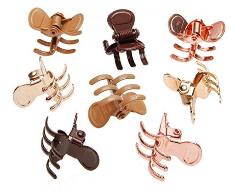 L. Erickson Mini Metal Jaw Clip & Go - Gold/Chocolate/Rose Gold/Camel