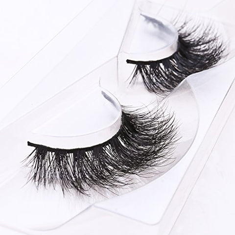 Arimika Long Thick Dramatic Look Handmade Reusable 3D Mink False Eyelashes For Makeup 1 Pair Pack