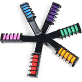 Aoert Temporary Hair Chalk Set - 6 Colors Hair Chalk With Brush - Hair Chalk Comb For Girls, Party, Cosplay (6 Color)