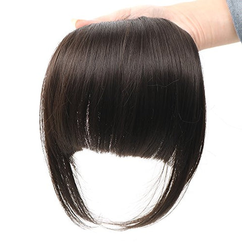 Aoert Straight Hair Bang Hair Kanekalon Synthetic In Front Bob Bang For Girl, Women (Black)