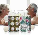 6 Xtra Large And Lush Bath Bomb Mothers Day Gift Set - Bath Bombs Kit Includes Konjac Sponge - Use With Bath Body Bath Bubbles And Bath Beads - Usa Made Bath Basket - Unique Gift Ideas