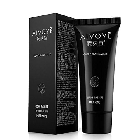 Afy Aivoye Suction Black Mask Deep Cleansing Face Mask Tearing Resist Oily Skin Strawberry Nose Black Mud Face Mask