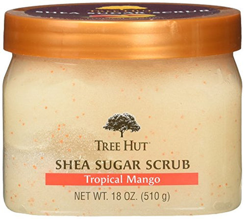Tree Hut Shea Sugar Scrub, Tropical Mango, 18 Ounce