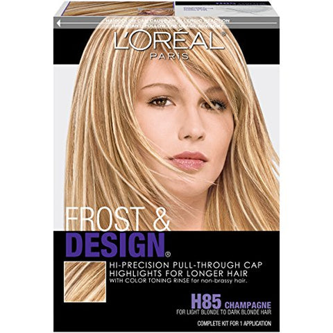 L'Oreal Paris Frost And Design Pull-Through Cap Highlights For Long Hair, H85 Frost&Design Champagne