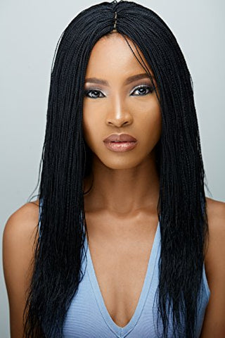 Handmade Micro Million Twist Wig - Color 1 (18 Inches)