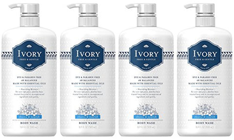 Ivory Free & Gentle Cleanse & Nourish Body Wash With Pear & Sandalwood Scent, 16.9 Fluid Ounce