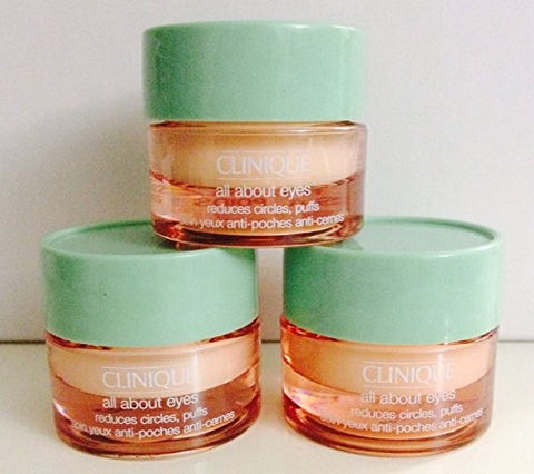 3 X 7Ml Clinique All About Eyes Eye Cream Reduces Circle Puffs (21Ml/0.63Oz Total)