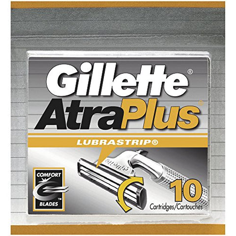 Gillette Atra Plus Lubra Strip Cartridge - 10 Ea