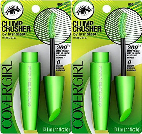 (X2) Covergirl Clump Crusher Mascara By Lashblast, Black 805, 0.44 Ounce
