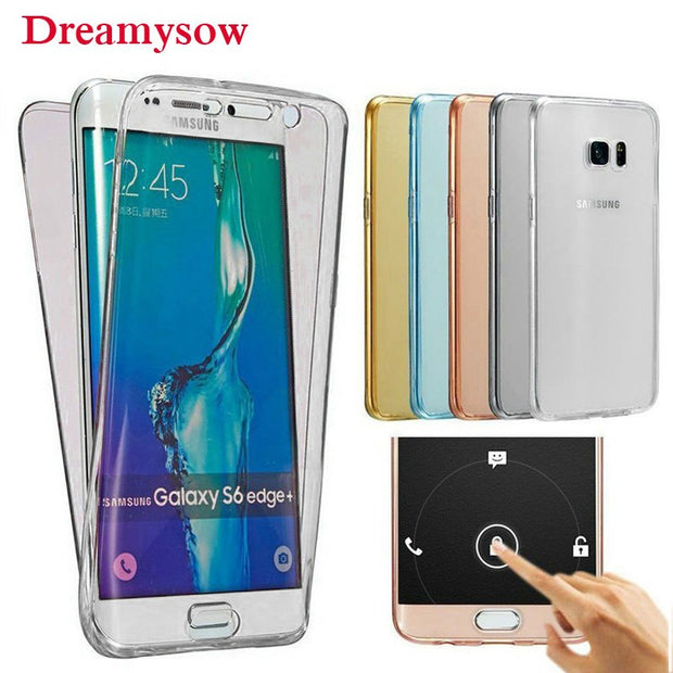 online store cf6c3 c36cb 360 Full Body Protection Soft TPU Cover For Samsung Galaxy J2 Pro A5 A6 A7  A8 2018 S9 S8 S7 S6 Edge Plus J5 J7 Grand Prime