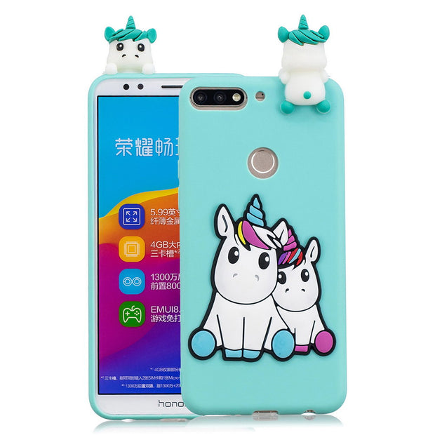 3D Stress Relief Silicon Phone Case For Huawei Y7 Prime 2018