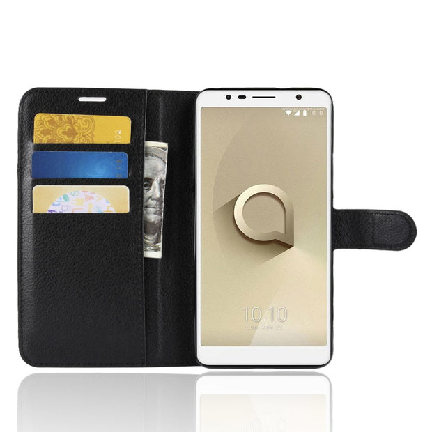 size 40 691cc a9a95 Alcatel 3C Case Alcatel 5026D Case Flip Luxury PU Leather Phone Case ...