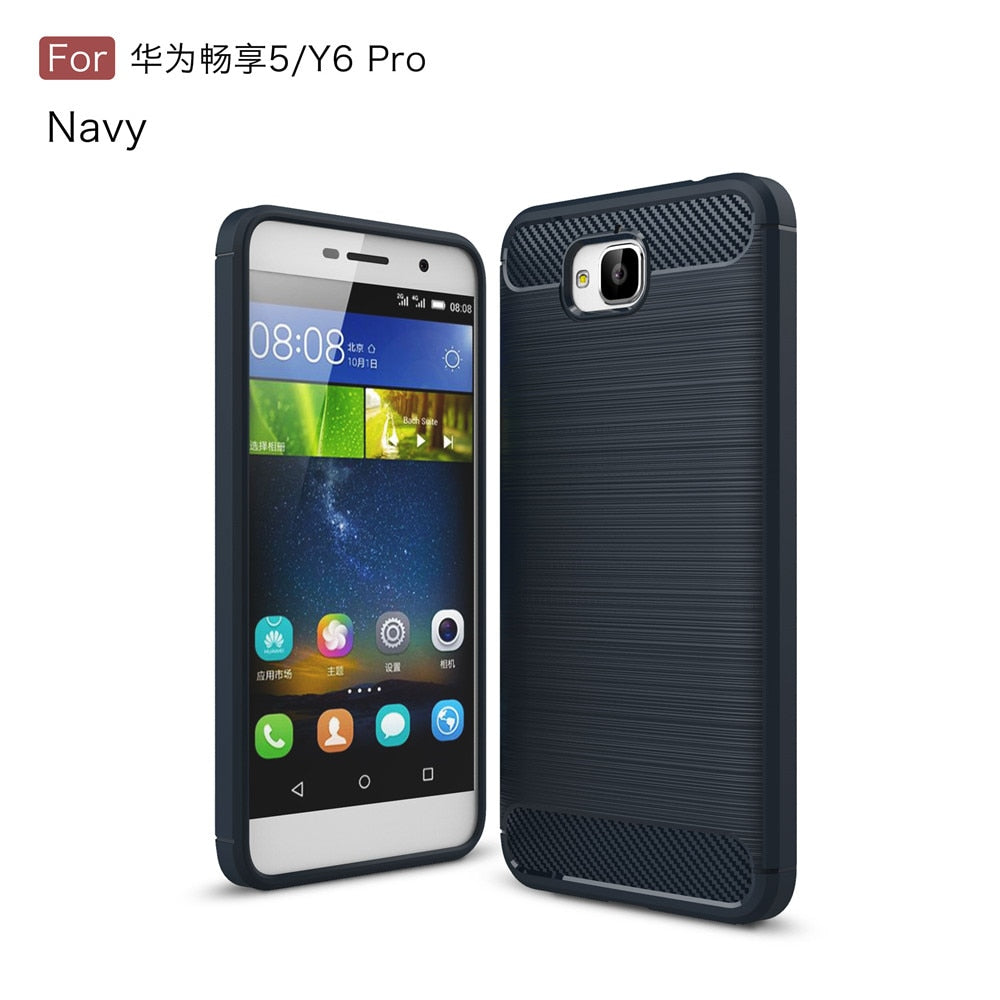 reputable site 8a227 f149b Amor Case For Huawei Y6 Pro / Enjoy 5 Y6Pro Case Silicone 360 Shockproof  Back Cover For Huawei Y6 Pro Phone Cases