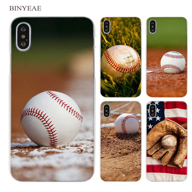 99f3e7a4e BINYEAE Baseball Quotes Clear Cell Phone Case Cover For Apple IPhone X 6 6s  7 8