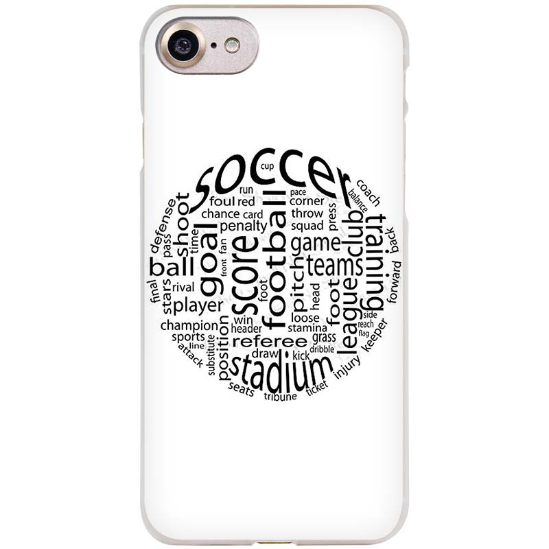 Binyeae Football Soccer Ball Design Clear Cell Phone Case Cover For Ap