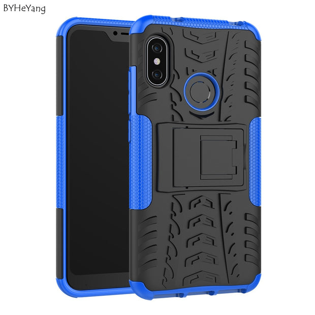 scarpe di separazione c74f5 3de1c BYHeYang For Xiaomi Mi A2 Lite Case For Mi A2 Lite Cover Silicone Bumper  Hybrid PC Cover For Xiaomi Mi A2 Lite Case On MiA2 Lite