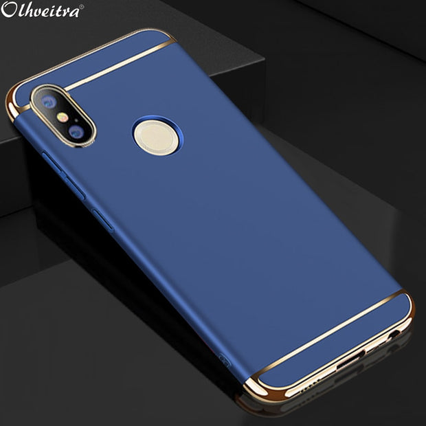 Back Cover For Huawei Honor 8X Case Original Fundas Hard PC 3 In 1  Protective Shockproof Case For Huawei Honor 8X Accessories