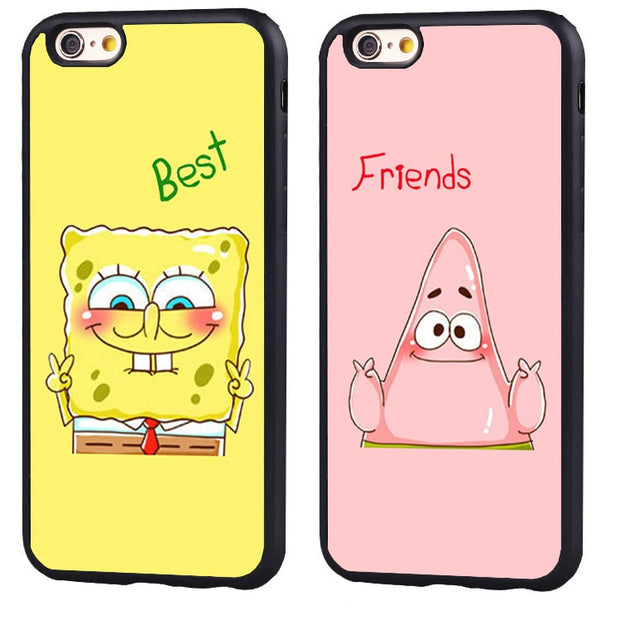 Best Friend Spongebob Funny Soft Silicone Protective Case Cover For Ip The Big Cat Cases