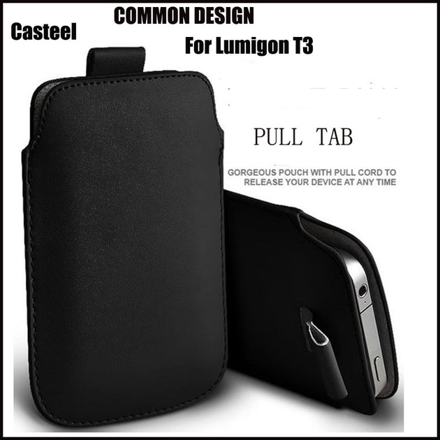 low priced acc22 49c25 Casteel PU Leather Case For Lumigon T3 Pull Tab Sleeve Pouch Bag Case Cover