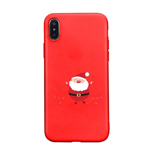 Christmas Phone Case Iphone 7.Cute Cartoon Christmas Phone Case For Apple Iphone 7 7plus 8 6 6s Plus 5 5s Santa Claus Lamp Tree Cover For Iphone X Xr Xs Max