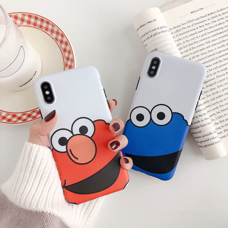Cute Cartoon Sesame Street Cookie Elmo Phone Case For IPhone 6 6S Plus 7 8  Plus X XS Max XR Cases Soft Silicon Back Cover Coque
