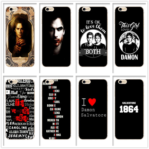 DK The Vampire Diaries Youth Magic Mysterious Phone Case Cover Hard  Transparen For IPhone 6 6s 7 8plus 5s 5c 4s X XS XR XSMAX