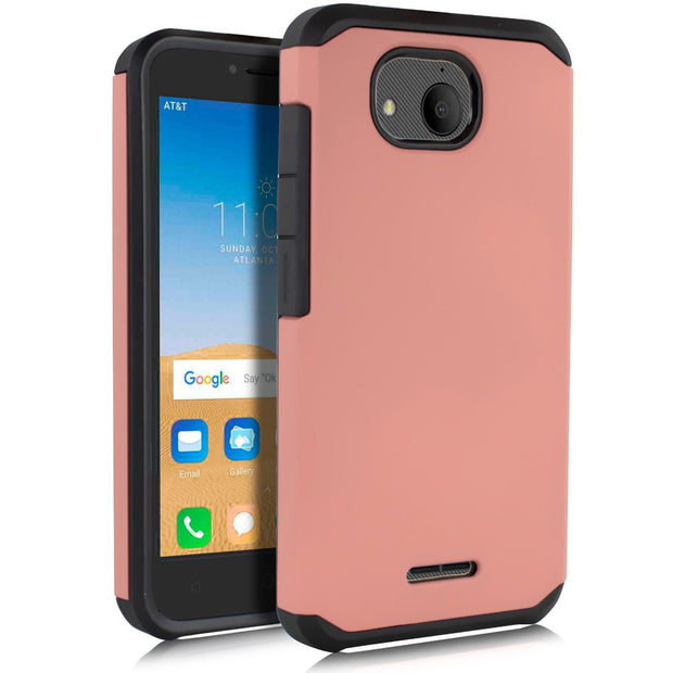 For Alcatel Tetra Case Dual Layer Hybrid Rugged Case Shockproof Anti