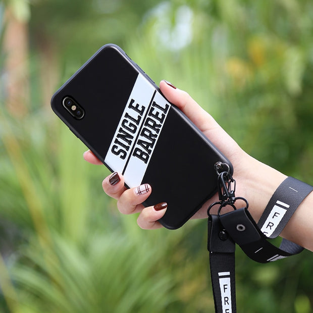 premium selection 1dfe1 93996 For Apple IPhone X Protective Phone Case For Iphone X Case Lanyard ...