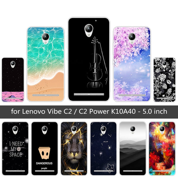 pretty nice 798a6 07921 For Lenovo Vibe C2 / C2 Power K10A40 Fundas For Lenovo C2 Back Cover Soft  TPU Silicone For Lenovo C2 Prower Sunrise Phone Cases