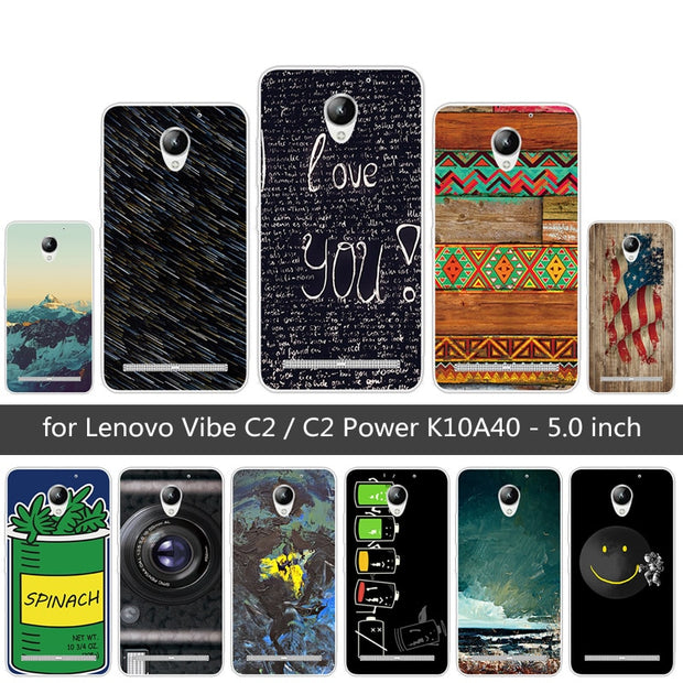 new arrival f252f c6f87 For Lenovo Vibe C2 / C2 Power K10A40 Fundas For Lenovo C2 Back Cover Soft  TPU Silicone For Lenovo C2 Prower Heaven Phone Cases