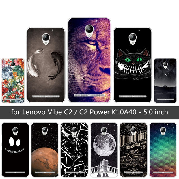 hot sales 71bca 109a8 For Lenovo Vibe C2 / C2 Power K10A40 Fundas For Lenovo C2 Back Cover Soft  TPU Silicone For Lenovo C2 Prower Lion Phone Cases