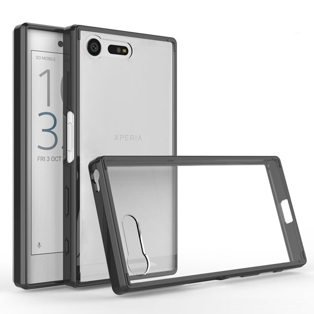 pretty nice 454d6 62852 For Sony Xperia X Compact F5321 Case Cover Shockproof Transparent Back  Cover For Coque Xperia X Compact Case Full Protector 4.6