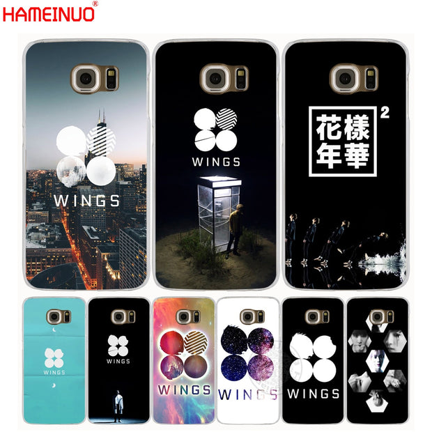 innovative design 971e2 aedff HAMEINUO BTS Bangtan Wings Cell Phone Case Cover For Samsung Galaxy A3 A310  A5 A510 A7 A8 A9 2016 2017 2018